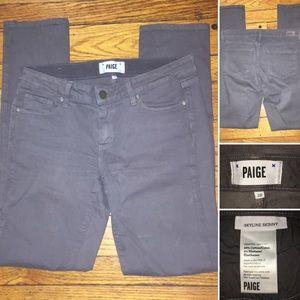 PAIGE | Skyline Skinny Jeans, sort of grayish-Blue